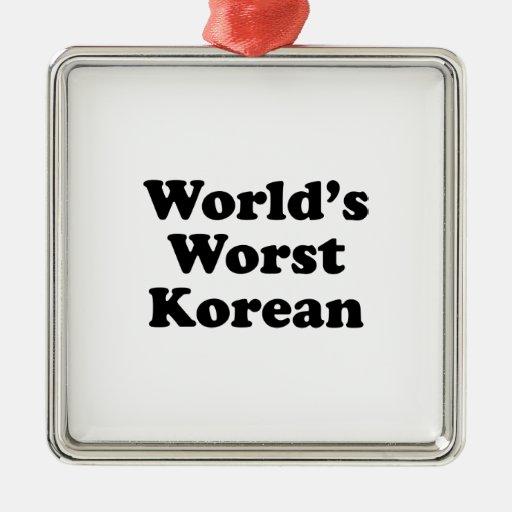 El coreano peor del mundo adorno
