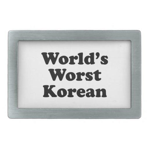 El coreano peor del mundo hebilla de cinturon rectangular