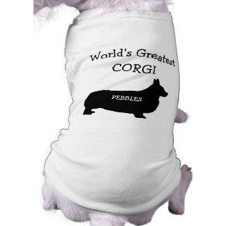 El Corgi más grande de los mundos de encargo Playera Sin Mangas Para Perro