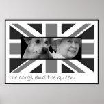 El corgi y la reina poster