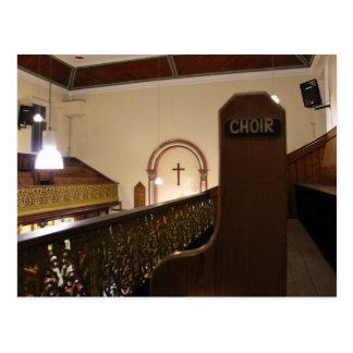 el coro bench tarjeta postal