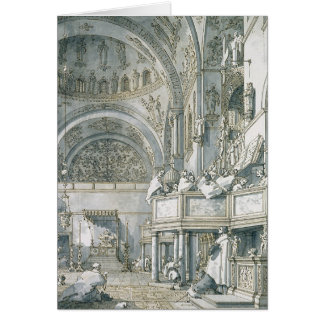 El coro que canta en la basílica de St Mark Felicitacion