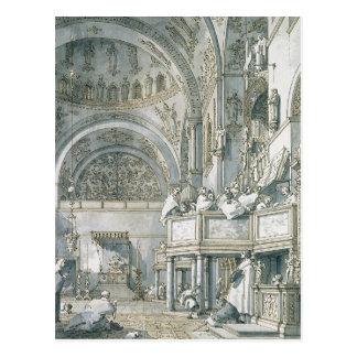 El coro que canta en la basílica de St Mark Tarjetas Postales