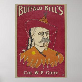 El coronel W.F. Cody Poster de Buffalo Bill