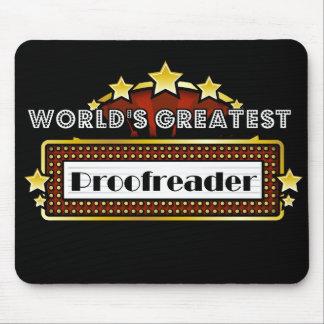 El corrector de pruebas más grande del mundo mouse pads