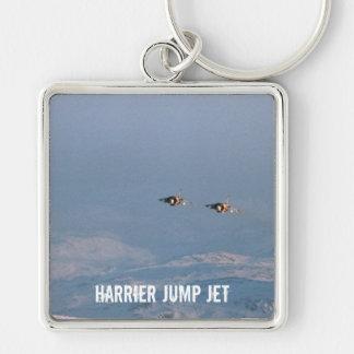 El corredor de cross salta el jet llavero