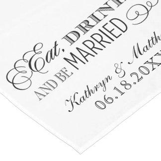 El corredor de la tabla del boda el | come la camino de mesa corto