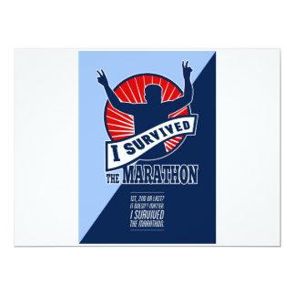 El corredor de maratón sobrevivió el poster invitación personalizada