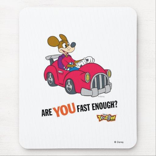 """El corredor de Toontown Kart """"es usted rápidamente Mousepad"""