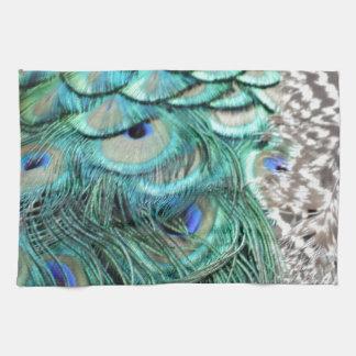 El corredor del pavo real toalla de mano