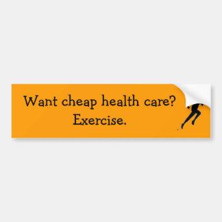 ¿el corredor, quiere atención sanitaria barata?  E Pegatina Para Auto