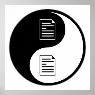 El corregir de Yin Yang Póster