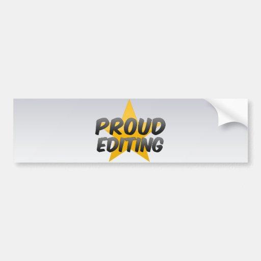 El corregir orgulloso pegatina de parachoque