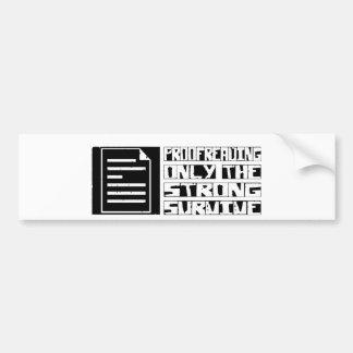 El corregir sobrevive etiqueta de parachoque