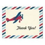 El correo aéreo plano del vintage le agradece anuncio