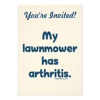 El cortacésped tiene artritis invitaciones personales