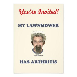 El cortacésped tiene artritis comunicado personalizado