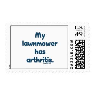 El cortacésped tiene artritis sello
