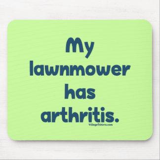 El cortacésped tiene artritis alfombrillas de ratón