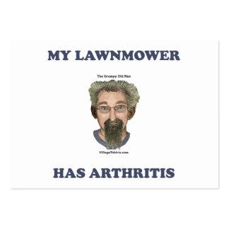 El cortacésped tiene artritis tarjeta de visita