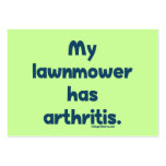 El cortacésped tiene artritis tarjetas de visita grandes