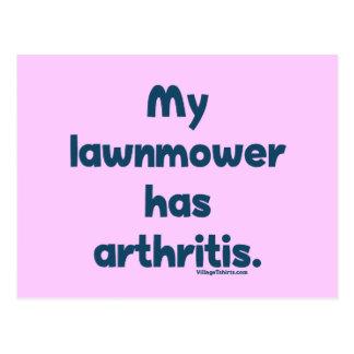El cortacésped tiene artritis postal