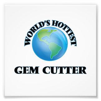 El cortador de la gema más caliente del mundo fotografias