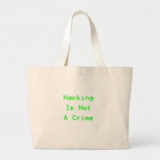 El cortar no es un crimen bolsas lienzo