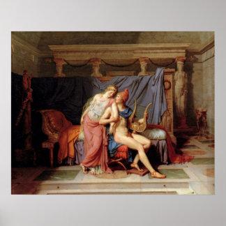 El cortejo de París y de Helen Póster