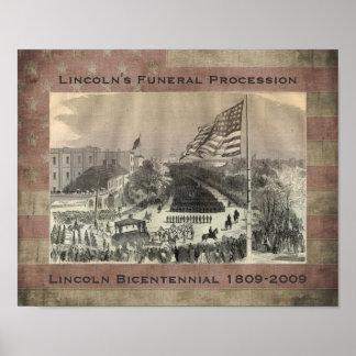 El cortejo fúnebre de Lincoln - modificado para re Poster