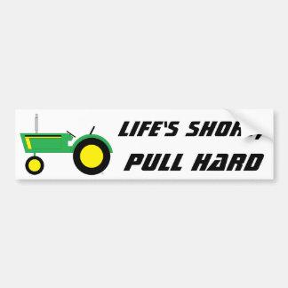 El cortocircuito de la vida pegatina para auto