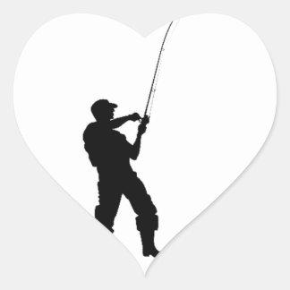 El cortocircuito de la vida, pesca difícilmente pegatina en forma de corazón