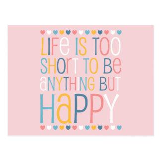 El cortocircuito de la vida sea feliz postal