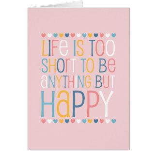 El cortocircuito de la vida sea feliz felicitación