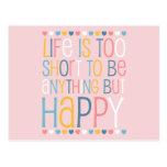 El cortocircuito de la vida sea feliz tarjeta postal