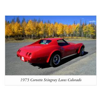 El Corvette 1975 ama la postal de Colorado