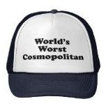 El cosmopolita peor del mundo gorros bordados