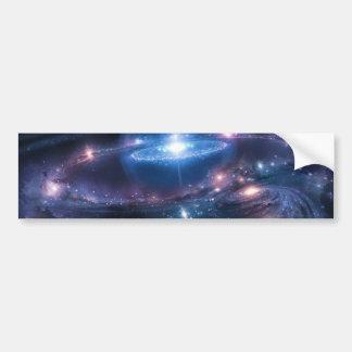 El cosmos etiqueta de parachoque