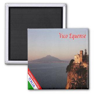 ÉL - costa de Italia - de Amalfi - Vico Equense Imán Cuadrado