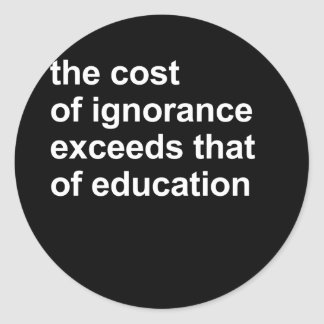 El coste de ignorancia excede el de la educación etiqueta