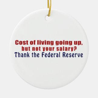 El coste de la vida que sube agradece Federal Adorno Navideño Redondo De Cerámica