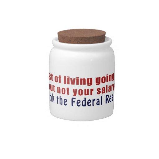 El coste de la vida que sube agradece Federal Rese Jarras Para Caramelos