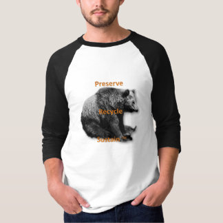 El coto, recicla, camiseta del dos-tono de los