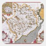 El Countye de Monmouth, grabado por Jodocus Pegatinas Cuadradases Personalizadas