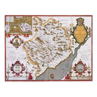 El Countye de Monmouth, grabado por Jodocus Tarjeta Postal