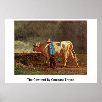 El Cowherd por Troyon constante Impresiones