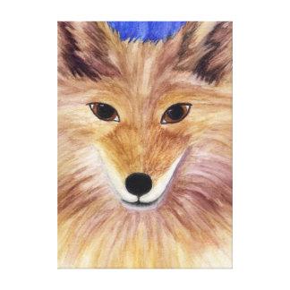 El coyote estiró la impresión de la lona lienzo envuelto para galerias