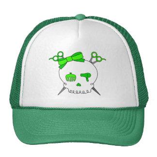 El cráneo accesorio del pelo de la verde lima Scis Gorras De Camionero