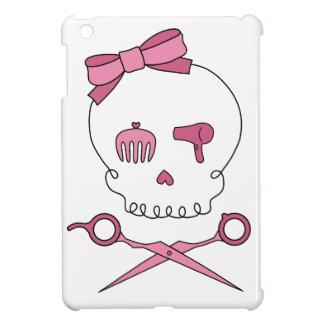 El cráneo accesorio del pelo y Scissor bandera pir iPad Mini Funda