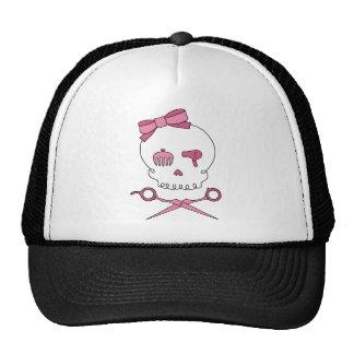 El cráneo accesorio del pelo y Scissor bandera pir Gorro De Camionero